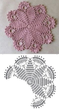 DIY: 20 Modelos de sousplat de crochê ⋆ De Frente Para O Mar - Free crochet doily patterns رومیزی - Knitting PatternsKnitting FashionCrochet PatronesCrochet Stitches Free Crochet Doily Patterns, Crochet Placemats, Crochet Doily Diagram, Crochet Motifs, Crochet Mandala, Thread Crochet, Crochet Designs, Crochet Flowers, Crochet Coaster