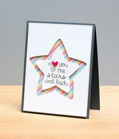 Lawn Fawn - Lucky Stars, Puffy Star Stackables Lawn Cuts dies, Hello Sunshine 6x6 paper _ beautiful card by Jean via Flickr - Photo Sharing!