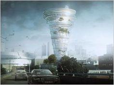 Un cabinet d'architecture de l'Oklahoma a imaginé la conception d'une tour-tornade abritant le musée de la météo et les studios de la télévision locale. Des panneaux de verre ondulés donneraient l'illusion d'un tourbillon, un phénomène météorologique bien connu de la région.