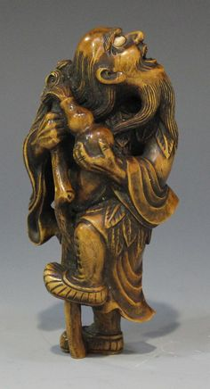 Antique Ivory Netsuke- Blind Beggar