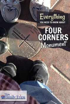 Everything you need to know about Four Corners Monument in the Navajo Nation. Stand in Utah, Arizona, New Mexico and Colorado at the same time! | tipsforfamilytrips.com