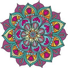 vinilo decorativo mandala gigante 100cm color personalizable Mandala Doodle, Mandala Art, Mandala Drawing, Mandala Painting, Stone Painting, Doodle Art, Mandala Design, Coloring Books, Coloring Pages