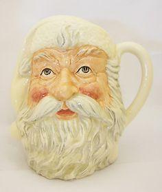 Royal Doulton Character Jug/Toby Mug Santa all white colour trial