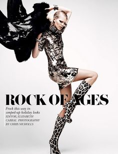 """Rock of Ages"" | Model: Dani Sutherland, Photographer: Chris Nicholls, Flare, January 2012"