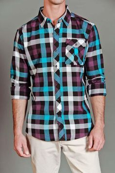 JackThreads - Plaid Flannel Button Up Shirt