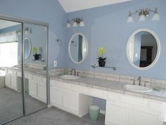 Another view of master bath with dual sinks