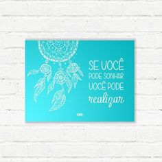 "Placa Decorativa ""Filtro dos Sonhos CBB"" - Papel de Parede e Adesivos Decorativos - AdsiveShop"