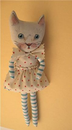 Sweet Lucy cat art doll | Flickr love her face details