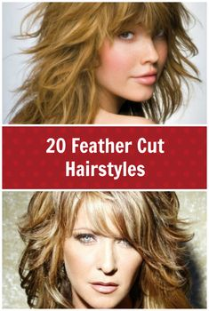 20 feather cut hairstyles for long, medium, and short hair. Great layered hair style looks for any length of hair.