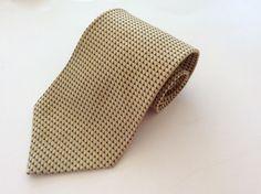IZOD Neck Tie Yellow Blue Geometric 100% Silk #IZOD #NeckTie