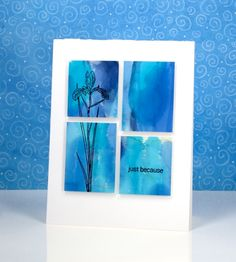 I am enjoying teaching a batch of Alcohol Ink classes at presentand we have been having so much fun. The depth and impact of alcohol ink colour is quite something. I chose to use these two similar…