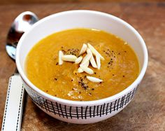 Recipe for yam, apple and carrot soup with ginger and honey - The ...