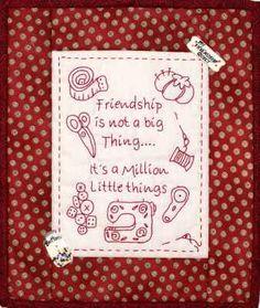 """Friendship"" Stitchery"