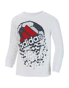 Adidas Boys 2-7 Soccer Tee  White 6
