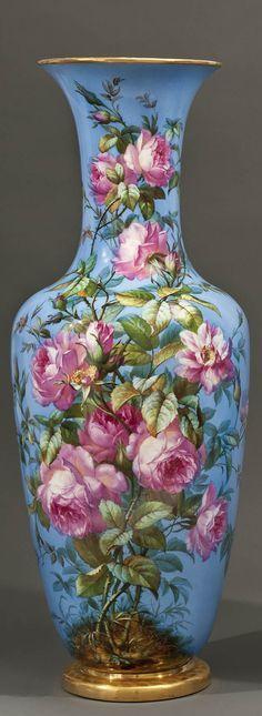 Berlin Blue Ground Porcelain Vase.