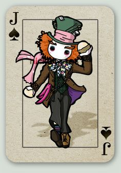Tim Burton's Alice card series. Mad Hatter