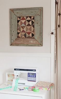 Framed quilt block h