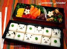 Bento bons et beaux : inspiration photo Valentine List, Valentines, Cube Recipe, Vegan Lunch Box, Sushi Recipes, Recipes From Heaven, Bento Box, Lunch Time, Clean Eating