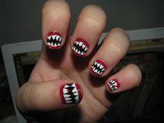 vampire nails.  I only pinned this for Julie!