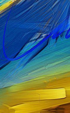 Wallpaper different oil paint colors swabs