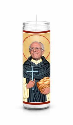 Bernie Sanders Celebrity Prayer Candle Prayer Candles Funny Candles Funny Prayers