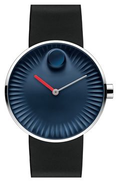 Movado 'Edge' Rubber Strap Watch, 40mm available at #Nordstrom