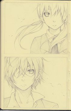 "Pencil: Shizuku x Haru, by aokamei on deviantART. >> The two main characters from the series ""My Little Monster."""