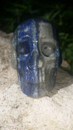 2.2 Lapis Lazuli Carved Crystal Skull 111 grams by CaptiveEssence