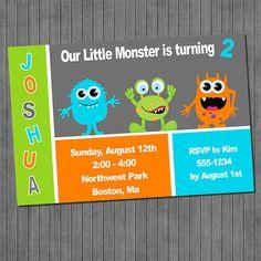 Invitación de cumpleaños de Monster