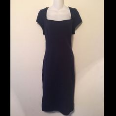 Nwt Navy Blue Midi Fitted Dress