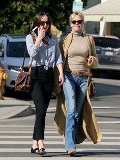 Dakota & her Mum out in LA