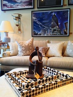 Vintage abstract #human #modernist figure with geometric #trays and limited edition #photographs at #Dallas #Mecox #interiordesign #mecoxgardens #furniture #shopping #home #decor #design #room #designidea #antiques #garden