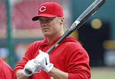 Cincinnati Reds' Jay Bruce warms up for batting practice.