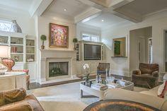 Living Room - Art- Fireplace - Art Lover's Dream Home