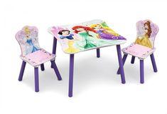 SET MESA Y SILLAS PRINCESAS DISNEY INFANTILES DE MADERA SERIGRAFIADA. TT89511PS, IndalChess.com Tienda de juguetes online y juegos de jardin
