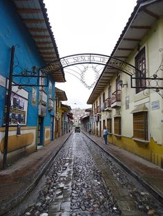 We've driven down this street before... Not the easiest thing in the world. Loja, Ecuador
