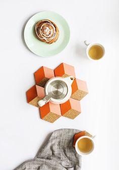 Sugar & Cloth: DIY Geometric Coasters