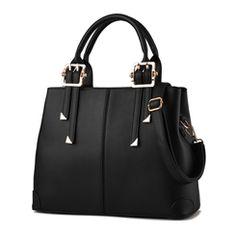 Ericdress Solid Color Thread Decorated Handbag
