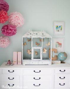 Big Girl Bedroom ideas, love the butterfly birdcage