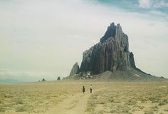 Kodachrome Restoration Project: Shiprock. Rattlesnake, New Mexico, 1954. 35mm Kodachrome Transparency by Carl Chelf. Scanned and Restored by Davis Pascal Ayer.