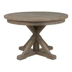 "47"" round, $999 Urban Barn Chateau Dining Table Rnd -Silvermoon"