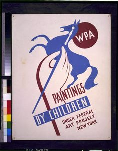 WPA paintings by children under Federal Art Project, New York - Artist: Harry Herzog - New York - WPA Federal Art Project - 1936-1941