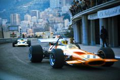 Denny Hulme in the McLaren M14A at Monaco, 1970. It was Bruce McLaren's last race.