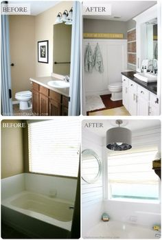 Bathroom Makeovers For Small Bathrooms before and after: 20+ awesome bathroom makeovers | moldings