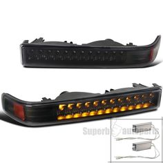 1998-2004 Chevy S10 Blazer GMC Sonoma Pickup Black LED Bumper Signal Lights Pair | eBay Motors, Parts & Accessories, Car & Truck Parts | eBay!