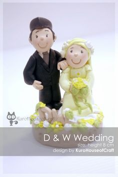 KuroHouse of Craft: Clay Wedding Couples (Cake Toppers) by KuroHouseofCraft