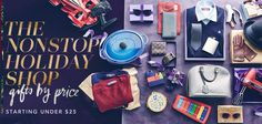 The Nonstop Holiday Shop: Gifts by Price