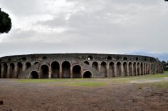 68- Amphitheatre of Pompeii- 70 BC. It is an important building in the history of Roman architecture. The design of colossium is based on this amphitheatre. It is made of stone, a row of blind arcades shape The exterior wall of the amphitheatre, which made of concrete, faced with the opus Incertum work. The staircase of the amphitheatre was built on a series of arches. This is a unique stair case and there is not any other staircase like these in the history of Roman architecture.