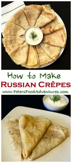These Russian Pancakes commonly known as Blinchiki, Crepes, Blintzes or Blini are a staple food in Slavic countries. Easy and delicious Russian Crepes Blini Recipe (Блины)