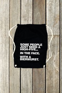 "Turnbeutel // Sportsbag ""Some People...."" by Whatabouttee via DaWanda.com"